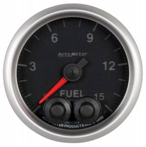 AUTO METER #5667 2-1/16 E/S Fuel Press. Gauge - 0-15psi