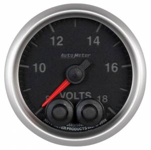 AUTO METER #5683 2-1/16 E/S Voltmeter Gauge - 8-18 Volts