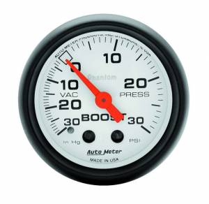 AUTO METER #5703 2-1/16in Phantom Boost / Vacuum Gauge