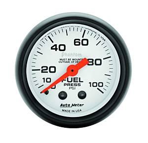 AUTO METER #5712 2-1/16in Phantom Fuel Pressure Gauge 0-100 PSI