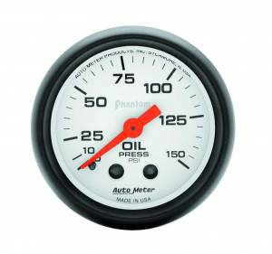 AUTO METER #5723 2-1/16in Phantom Oil Press. Gauge 0-150psi