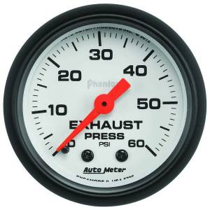 AUTO METER #5725 Exhaust Pressure Gauge 0-60psi Phantom Series