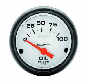 AUTO METER #5727 Phantom 2 1/16in Oil Pressure 0-100 PSI Elec.