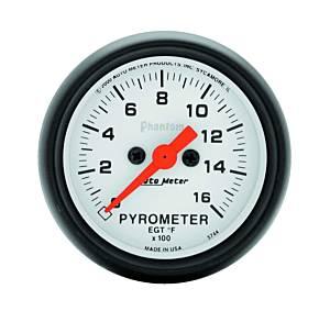 AUTO METER #5744 2-1/16in Phantom EGT Pyrometer Kit 0-1600