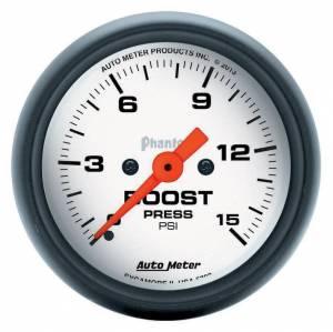 AUTO METER #5750 2-1/16 Phantom Boost Gauge 0-15psi