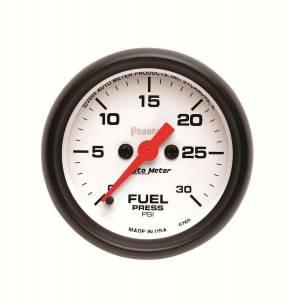 AUTO METER #5760 2-1/16in Phantom Fuel Press. Gauge 30psi