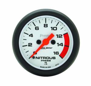 AUTO METER #5774 2-1/16in Phantom Nitrous Press. Gauge 0-1600psi