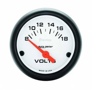 AUTO METER #5791 Phantom 2 1/16in Voltmeter 8-18 Volts