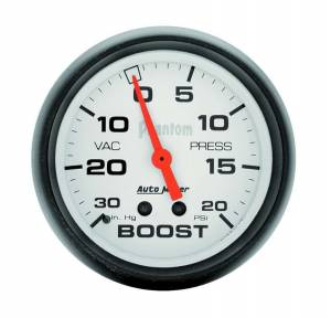 AUTO METER #5801 2-5/8in Phantom Boost Gauge 20psi