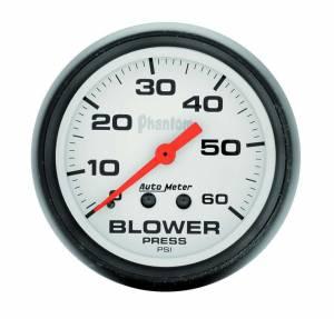 AUTO METER #5802 2-5/8in Phantom Blower Press. Gauge 0-60