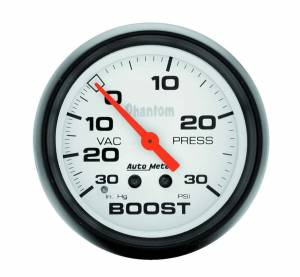 AUTO METER #5803 2-5/8in Phantom Boost Gauge 30psi
