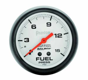 AUTO METER #5810 2-5/8in Phantom Fuel Press. Gauge 0-15psi