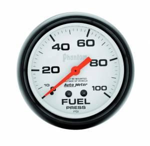 AUTO METER #5812 2-5/8in Phantom Fuel Press. Gauge 0-100psi