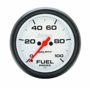 AUTO METER #5863 2-5/8in Phantom Fuel Press. Gauge 0-100psi