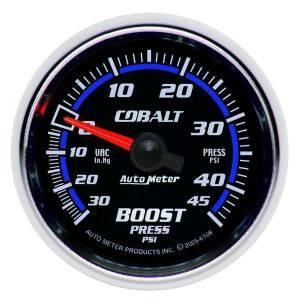 AUTO METER #6108 2-1/16 C/S Boost/Vacuum Gauge 30/45