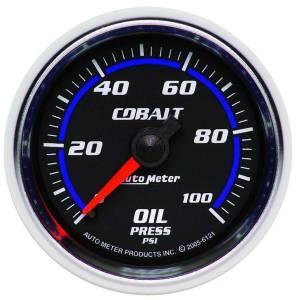 AUTO METER #6121 2-1/16in C/S Oil Pressure Gauge 0-100psi