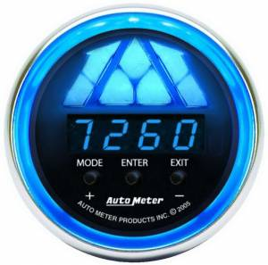 AUTO METER #6187 2-1/16in C/S Shift Light - 1 Stage- Blue Light