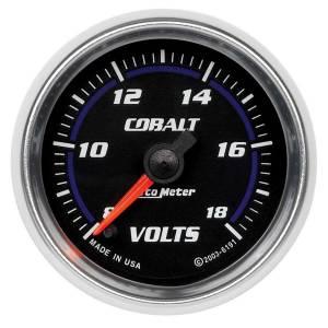 AUTO METER #6191 2-1/16in C/S Voltmeter Gauge 8-18 Volts