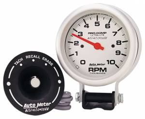 AUTO METER #6604 Ultra Lite 3 3/4in Silver Tach 10000 RPM