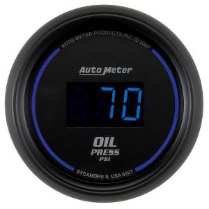 AUTO METER #6927 2-1/16 Oil Press Gauge 0-100 PSI Digital