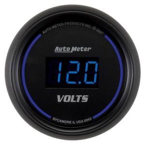 AUTO METER #6993 2-1/16 Cobalt Voltmeter Gauge