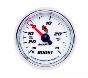 AUTO METER #7103 2-1/16in C2/S Boost/Vac Gauge 30in Hg/30psi