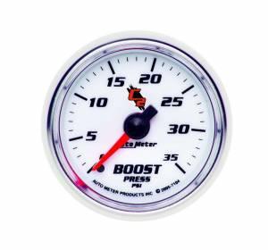 AUTO METER #7104 2-1/16in C2/S Boost Gauge 0-30psi