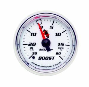 AUTO METER #7107 2-1/16in C2/S Boost/Vac Gauge 30in Hg/20psi