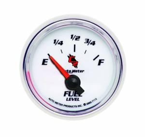 AUTO METER #7113 2-1/16in C2/S Fuel Level Gauge 0-90ohms