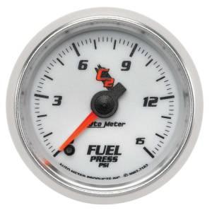 AUTO METER #7162 2-1/16 C2/S Fuel Press. Gauge 0-15psi