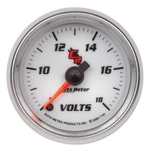 AUTO METER #7191 2-1/16in C2/S Voltmeter Gauge 8-18 Volts