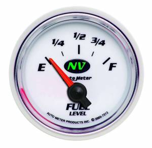 AUTO METER #7313 2-1/16in NV/S Fuel Level Gauge 0-90ohms