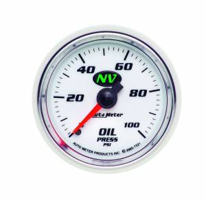 AUTO METER #7321 2-1/16in NV/S Oil Press. Gauge 0-100psi