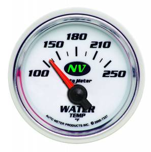 AUTO METER #7337 2-1/16in NV/S Water Temp Gauge 100-250