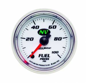 AUTO METER #7363 2-1/16in NV/S Fuel Pressure Gauge 0-100psi