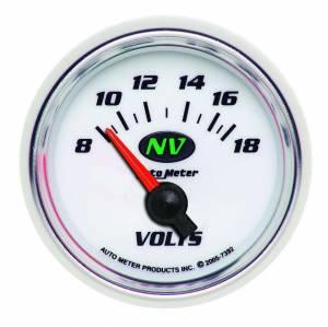 AUTO METER #7392 2-1/16in NV/S Voltmeter Gauge 8-18 Volts