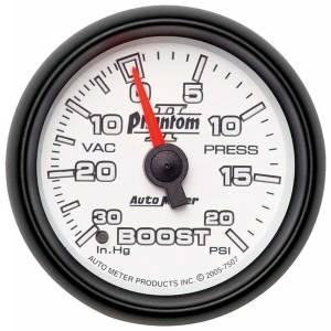AUTO METER #7507 2-1/16in P/S II Boost/Vac Gauge 30/20