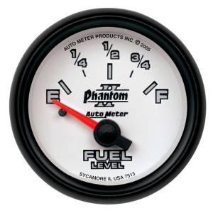 AUTO METER #7513 2-1/16in P/S II Fuel Level Gauge 0-90ohms