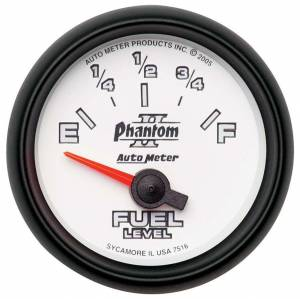 AUTO METER #7516 2-1/16in P/S II Fuel Level Gauge 240-33ohms