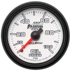 AUTO METER #7521 2-1/16in P/S II Oil Pressure Gauge 0-100psi