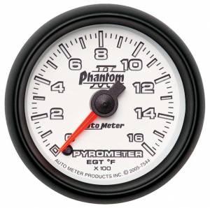 AUTO METER #7544 2-1/16in P/S II Pyrometer Kit 0-1600