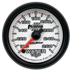 AUTO METER #7555 2-1/16in P/S II Water Temp. Gauge 100-260