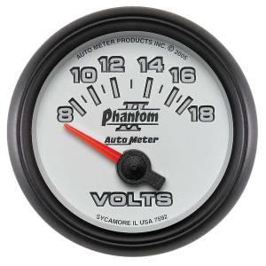 AUTO METER #7592 2-1/16in P/S II Voltmeter 8-18