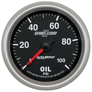 AUTO METER #7621 2-5/8 SC II Oil Pressure Gauge 0-100psi