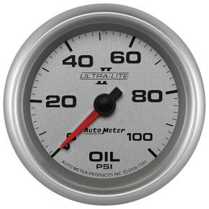 AUTO METER #7721 2-5/8 U/L II Oil Press Gauge 0-100psi