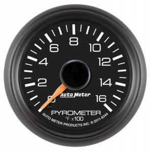 AUTO METER #8344 2-1/16 Pyrometer Gauge - GM Diesel Truck