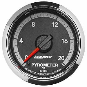 AUTO METER #8547 2-1/16 Pyrometer Gauge 2000 Deg. Dodge Diesel