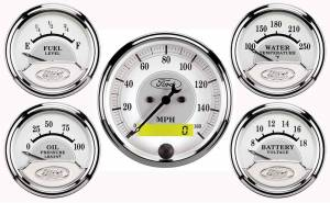 AUTO METER #880087 Ford Racing 5 Gauge Kit - White Face