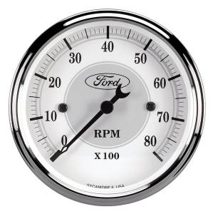 AUTO METER #880088 Ford Racing Tach - 3-1/8 In-Dach - White Face