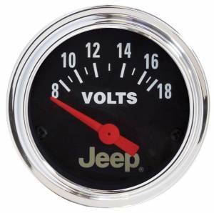 AUTO METER #880242 2-1/16 Voltmeter Gauge - Jeep Series